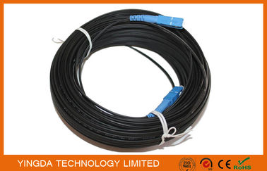 SC / UPC 200 Meters Fiber Optic Patch Cord FRP Square FTTH Drop Fiber Optic Jumper