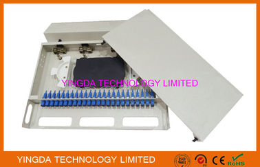 "चीन 1U 24 Port 19"" SC SM 24 Cores Fiber Patch Panel SC Pigtail And SC Adapters फैक्टरी"