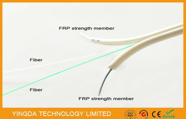 चीन Single Mode FTTH Drop Cable , FRP Non - Metallic Strength 2 Core Fiber Optic Cable फैक्टरी