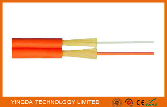 चीन Zipcord Duplex FTTH Drop Cable , Patch Cord SM / MM 1.6mm 2mm 3mm Yellow Orange फैक्टरी