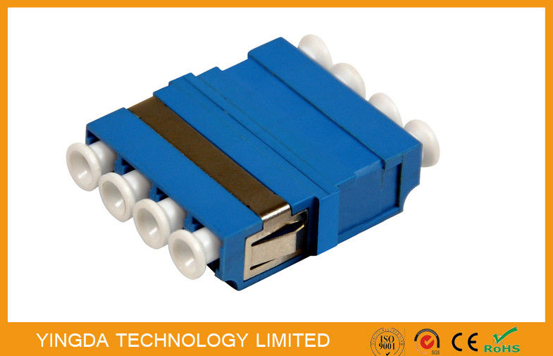 FTTH CATV LC/PC Fiber Optic Adapter 4 Way Blue ,  SM / MM LC Optical Adapter आपूर्तिकर्ता