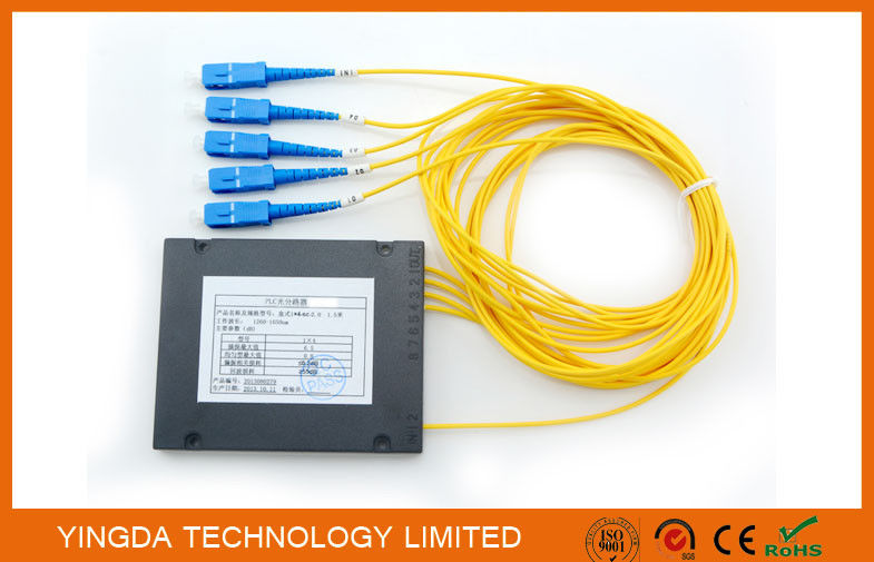 Low PDL PLC Splitter Box Module SC / UPC G657A2 1.5M Blue , Fiber Optic Splitter आपूर्तिकर्ता