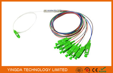 चीन 1x8 SC/APC Single mode OS2 9/125 Fiber Optic PLC Splitter FTTH Splitter वितरक